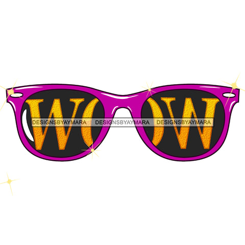Purple WOW Sunglasses Only JPG PNG  Clipart Cricut Silhouette Cut Cutting