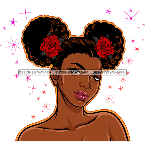 Brown Skin Queen Pretty Red Roses JPG PNG  Clipart Cricut Silhouette Cut Cutting