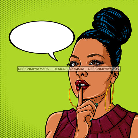 Black Woman Hair In Bun In Burgundy Conversation Bubble Green Background JPG PNG  Clipart Cricut Silhouette Cut Cutting