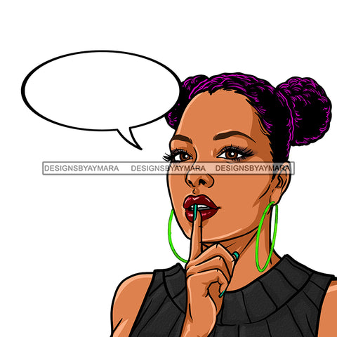 Black Woman Hair In Buns With Conversation Bubble Purple Hair JPG PNG  Clipart Cricut Silhouette Cut Cutting
