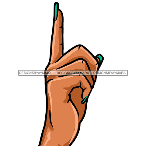 Pointing Finger Green Fingernails JPG PNG  Clipart Cricut Silhouette Cut Cutting