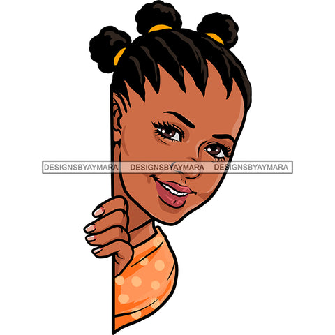 Peek A Boo Black Woman Braids Orange Top  JPG PNG  Clipart Cricut Silhouette Cut Cutting
