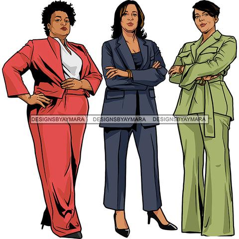 Vice President Kamala Harris Stacey Abrams Governor Keisha Lance Mayor 2021 Inauguration Designs Woman Power We Can Do It PNG JPG Files For Silhouette Cricut and More