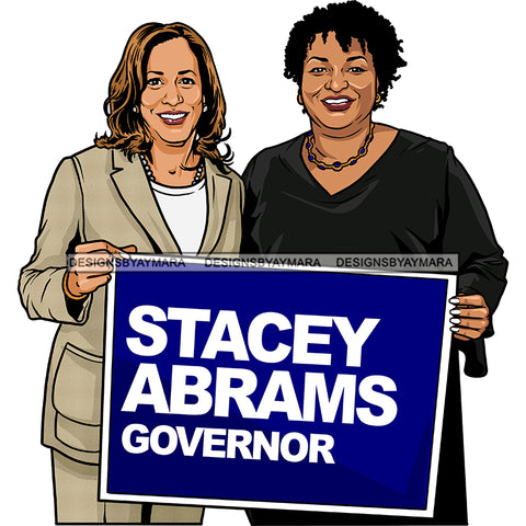 Stacey Abrams Governor Vice President Kamala Harris 2021 Inauguration Designs Woman Power PNG JPG Files For Silhouette Cricut and More