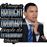 Barack Obama Quotes African American Leader Proud Roots .SVG Clipart Vector Cutting Files