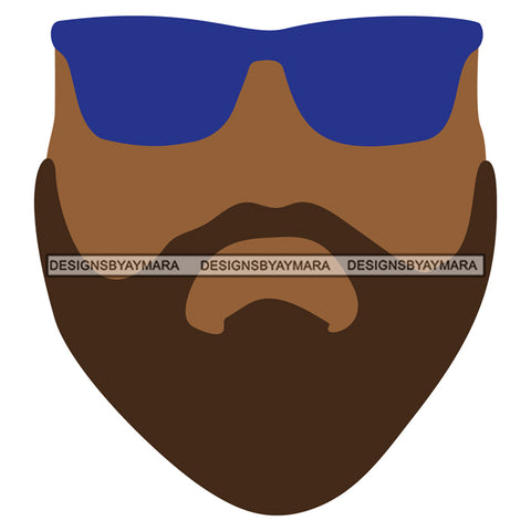 Black Man Mask Face Only SVG JPG PNG Vector Clipart Cricut Silhouette Cut Cutting1
