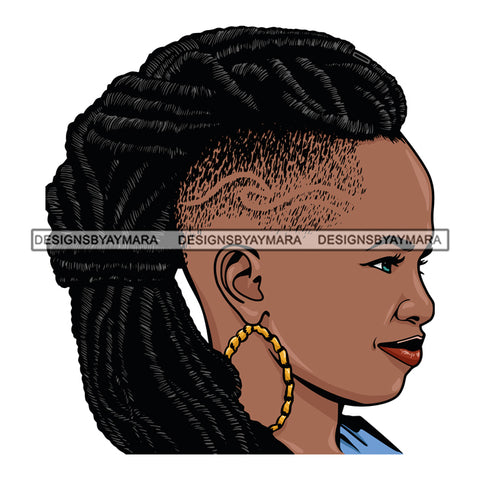 Afro Woman Dreadlocks Hairstyle Boss Lady Dope Diva Glamour Hot Selling .SVG Cutting Files For Silhouette Cricut and More!