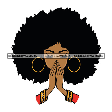 Afro Woman Praying God Pray Prayers Hot Selling .SVG Cutting Files For Silhouette Cricut and More!