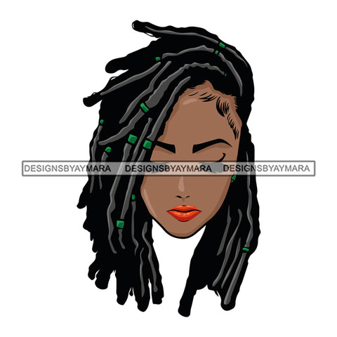 Afro Woman Dreads Braids Hairstyle Boss Lady Dope Diva Glamour Hot Selling .SVG Cutting Files For Silhouette Cricut and More!