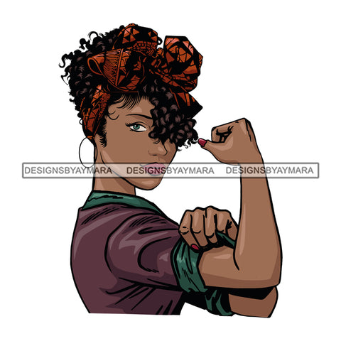 Afro Woman Flexing Boss Lady Dope Diva Hot Selling .SVG Cutting Files For Silhouette Cricut and More!