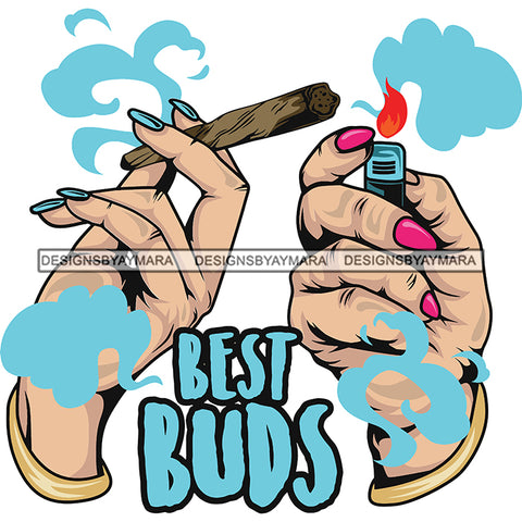 Best Buds Joints Marijuana Smoke SVG JPG PNG Vector Clipart Cricut Silhouette Cut Cutting