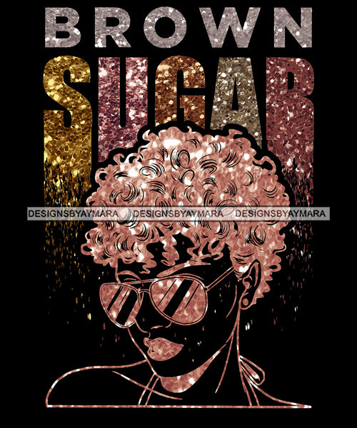 Bundle 9 Brown Sugar Black Girl Magic Afro Woman Nubian Queen Melanin Popping SVG Cutting Files For Silhouette Cricut and More