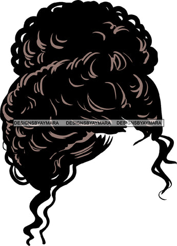 No Face Just Curly Black Woman Afro Hair  SVG JPG PNG Vector Clipart Cricut Silhouette Cut Cutting