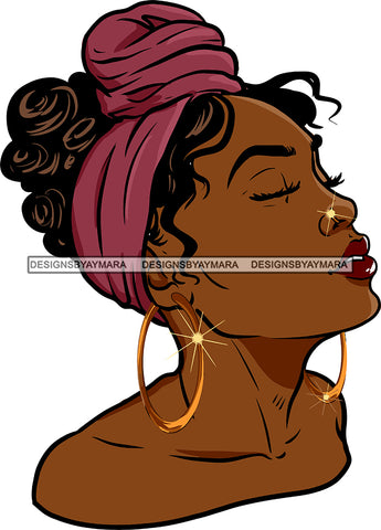 Afro Girl Bamboo Earrings Hustle Diva Gold Jewelry Hair Accessories Black Woman Goddess SVG Files For Cutting and More!