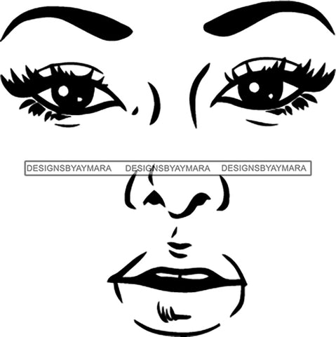 Face Outline   SVG JPG PNG Vector Clipart Cricut Silhouette Cut Cutting