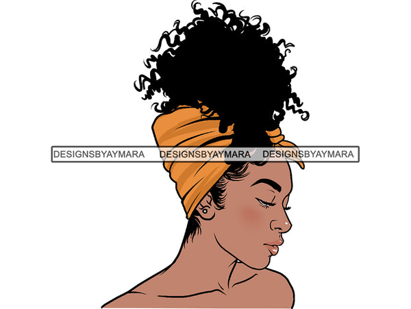 Afro Woman PNG File For Print