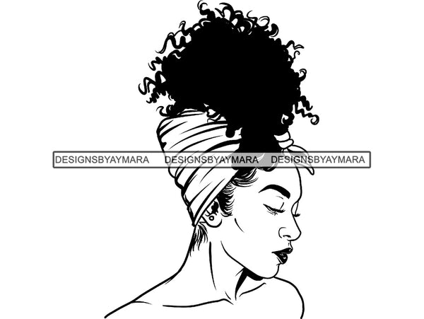 Afro Woman SVG African American Ethnicity Goddess Queen Diva Classy Beautiful Black Lady  .SVG .EPS .PNG Vector Clipart Cricut Circuit Cut Cutting