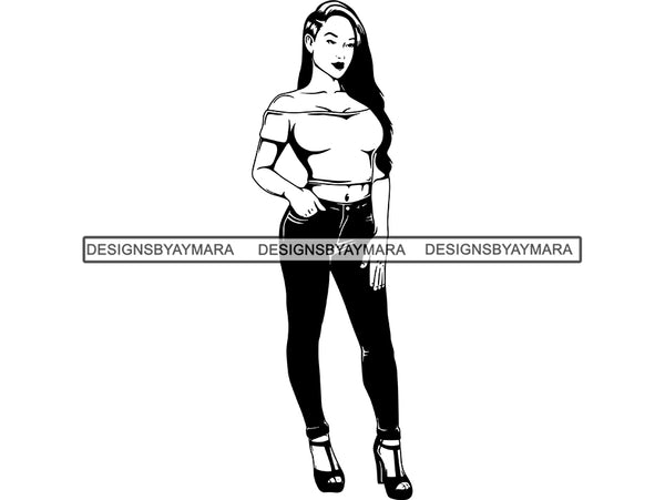 Beautiful Woman SVG Fabulous Goddess Queen Diva Classy Lady Fashion Model Glamour  .SVG .EPS .PNG Vector Clipart Digital Cricut Circuit Cut Cutting