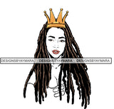 Afro Woman SVG fabulous Goddess Queen African American Ethnicity Braids Dreads Hairstyle Beauty Salon Queen Diva Classy Lady  .SVG .EPS .PNG Vector Clipart