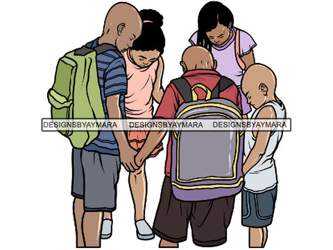 Kids Praying God PNG File For Print