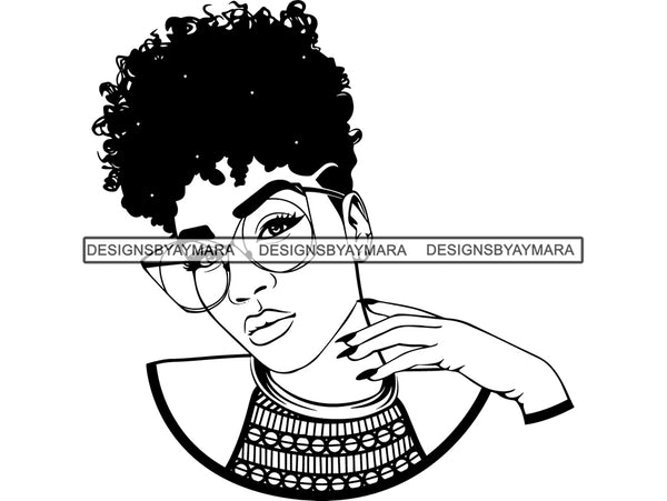 Woman SVG fabulous Goddess Queen African American Ethnicity Afro Hairstyle Beauty Salon Queen Diva Classy Lady  .SVG .EPS .PNG Vector Clipart  Cricut Circuit Cut Cutting