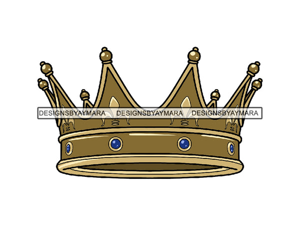 Gold Crown King Queen Royal Royalty Monarchy Kingdom Ruler Prince Princess Tiara Throne Treasure .SVG .JPG .EPS .PNG Vector Clipart Cricut Cutting Cut