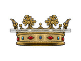 Crown Headwear Royalty Queen Royal Person King Authority Coronation Diadem Gold Jewelry .PNG .SVG Clipart Vector Cricut Cut Cutting