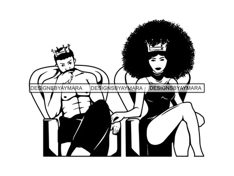 Black Couple SVG King Queen Power Relationship Goals African Ethnicity Kissing Falling in Love Happiness Young Adult EPS .PNG Vector Clipart Cricut Circuit Cut Cutting