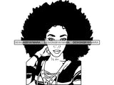 Afro Goddess SVG Fabulous Woman Power Independent Woman Afro Queen Diva Classy Lady SVG PNG EPS JPG Clipart Cutting Cut Cricut T-shirt Design