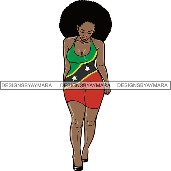 Afro Caribbean St. Kitts Goddess SVG Cutting Files For Silhouette Cricut and More