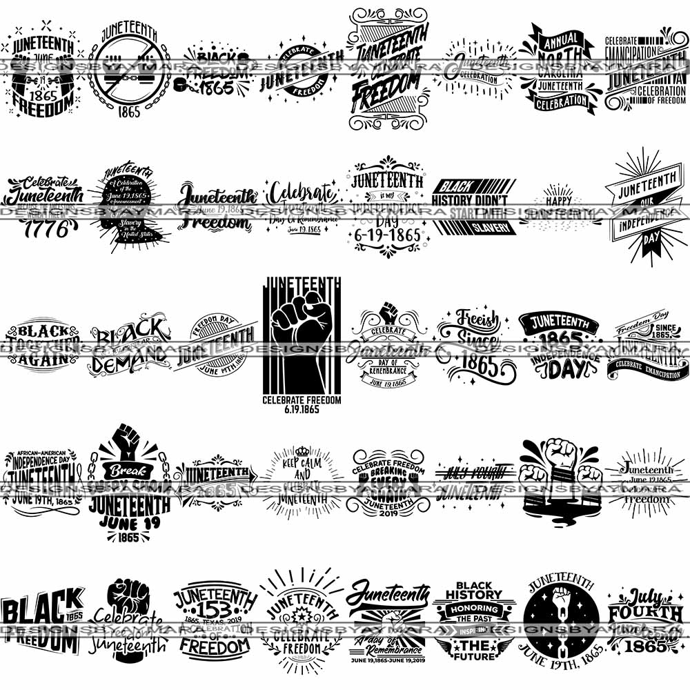 Big Bundle 40 Juneteenth 1 Svg Quotes Cut Files For Silhouette And Cr Designsbyaymara