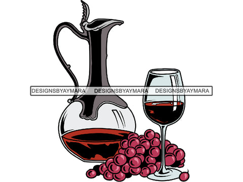 Wineglass and Roses PNG Files For Print