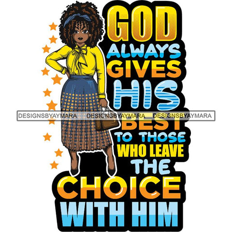 Afro Classy Lola Elegance Glamour Church Lady God Lord Dios Quotes .SVG Clipart Vector Cutting Files For Circuit Silhouette Cricut and More!