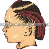 Afro Woman Braids Dreads Dreadlocks Hairstyle PNG Print File Not For Cutting