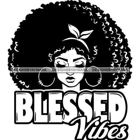 Afro Woman Goddess Hot Seller Design SVG Cutting Files