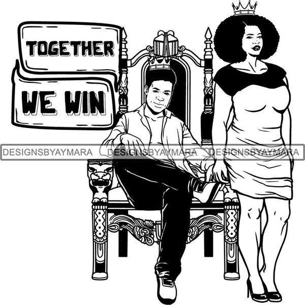 King and Queen Rey Reina Couple Life Goals SVG Cut Files For Silhouette and Cricut