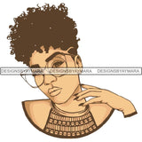 Afro Woman SVG Melanin Cutting Files For Cricut Silhouette and More