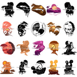 Bundle 20 Sensual African Silhouette Goddess Safari Africa Nature Exotic Culture SVG Cutting Files.