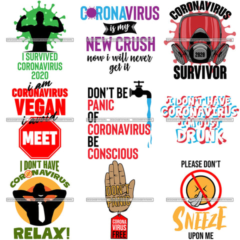Bundle 9 Coronavirus Medical Epidemic Disease Virus Health Pandemic Illness Quotes SVG Cutting FilesCoronavirus Medical Epidemic Disease Virus Health Pandemic Illness Quotes SVG Cutting Files