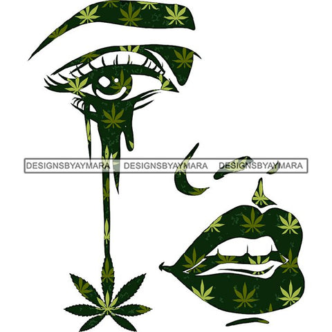 Weed Leaf Dope Cannabis Medical Marijuana Joint Blunt High Life SVG Cutting Files