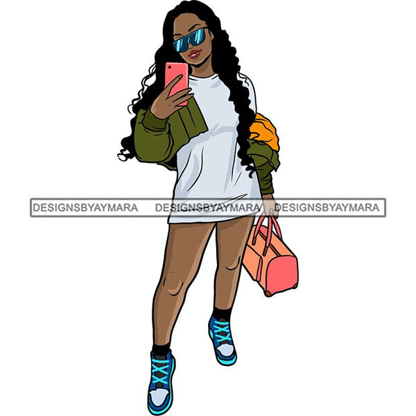 Pretty Woman Summer Fashion Dope Outfits Boss Lady Glamour New Trending .SVG Cut Files