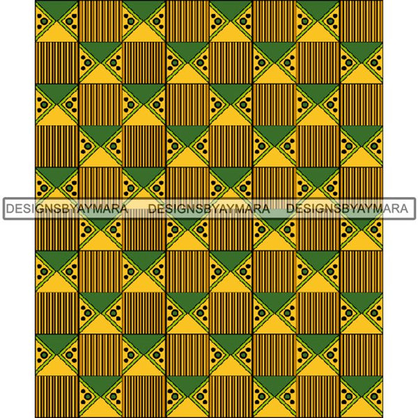 Kente African Pattern African American Culture PNG Print Files Not For Cutting