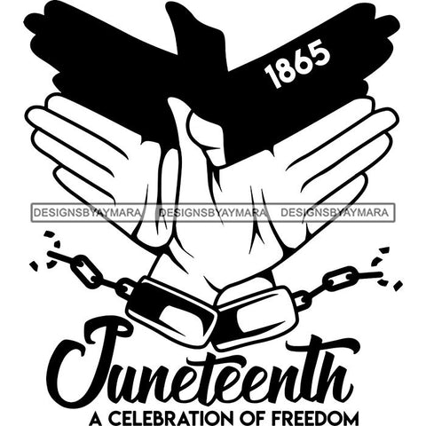 Juneteenth Emancipation Freedom June 19 Holiday African American History  SVG PNG JPG Vector Cutting Files