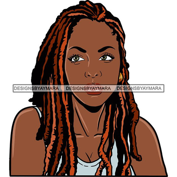 Afro Woman Braids Dreadlocks Sister-Locks Dreads Locks Hairstyle .SVG Cut Files For Silhouette and Cricut
