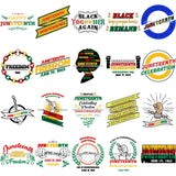 Bundle 20 June 19 Juneteenth Emancipation Freedom Holiday African American History  SVG PNG JPG Vector Cutting Files