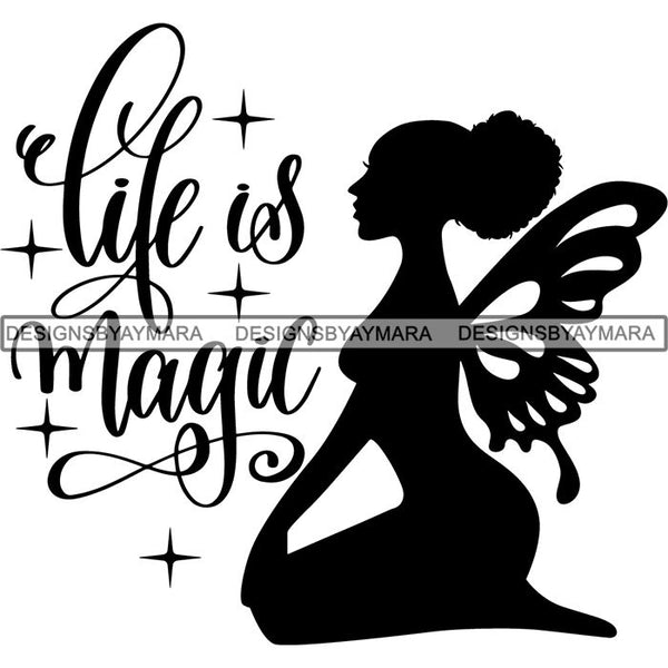 Afro Fairy Fantasy Magic SVG Cut Files For Silhouette and Cricut
