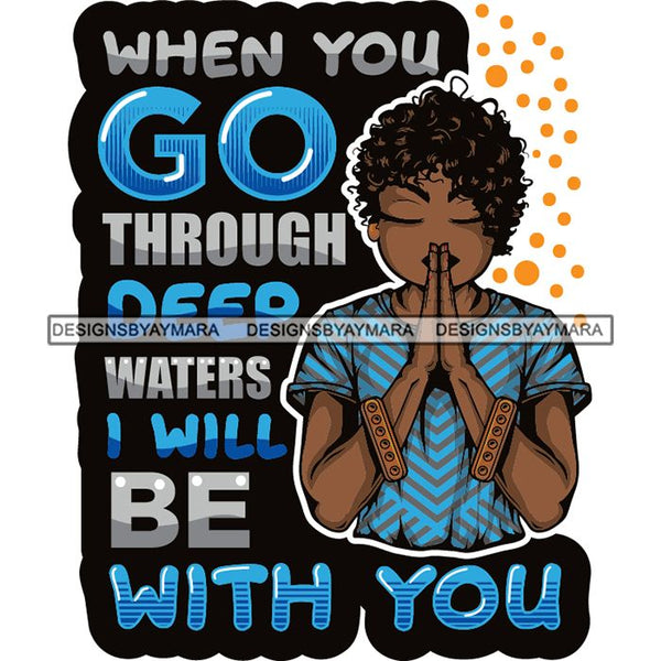 Afro Lola Woman Praying God Lord Prayers Pray Quotes Believe Church .SVG PNG JPG Clipart Vector Cutting Files