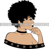 Afro Woman SVG Melanin Nubian Color Cutting Files