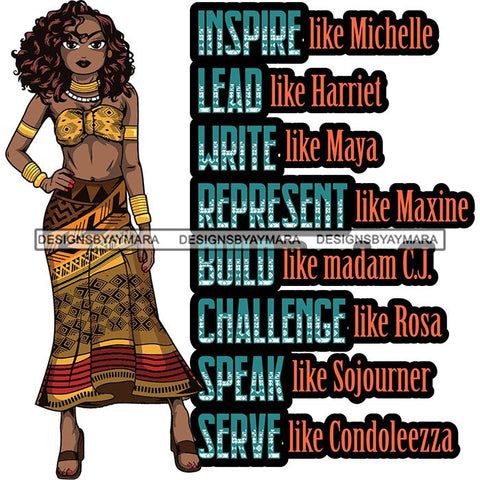 Afro Lola Black History Month Quotes .SVG Clipart Vector Cutting Files For Circuit Silhouette Cricut and More!