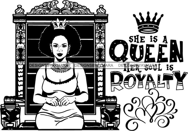 Afro Queen Goddess Melanin Nubian Glamour .SVG Cutting Files For Silhouette and Cricut